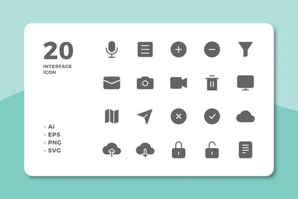 20 Interface Icons Vol.2 (Solid)