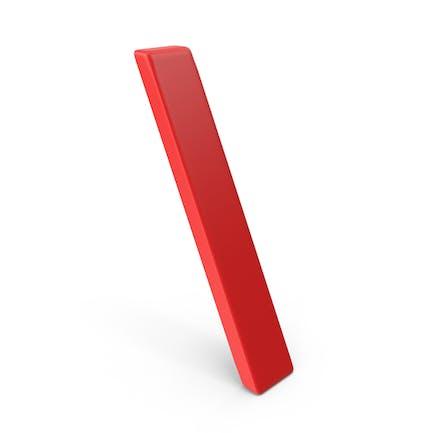 Símbolo de barra invertida roja