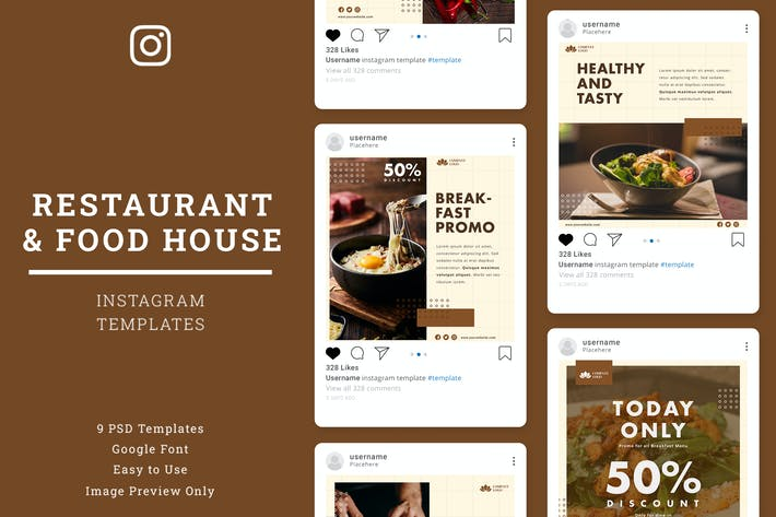 Thumbnail for Restaurant Instagram Post Template