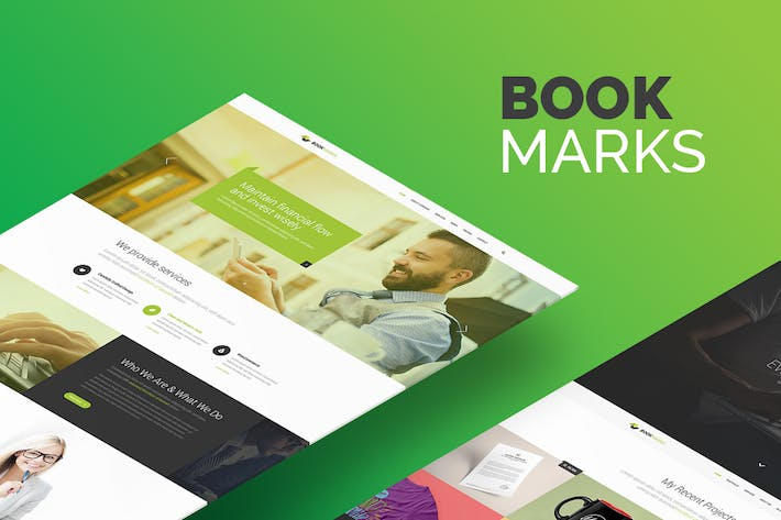 Thumbnail for BookMarks PSD Template