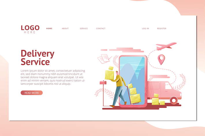 Thumbnail for Cargo Delivery Service  - Landing Page
