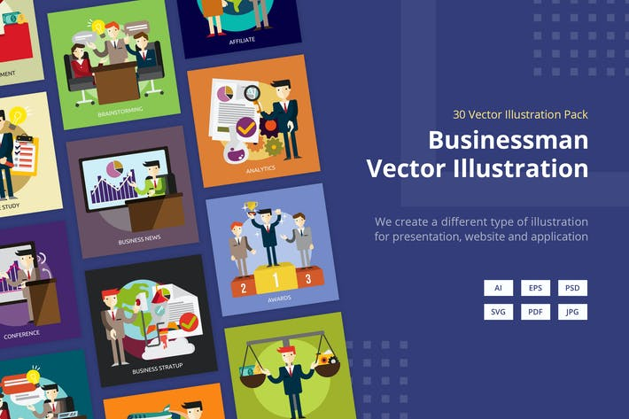 Thumbnail for Businessman Vector Illustration