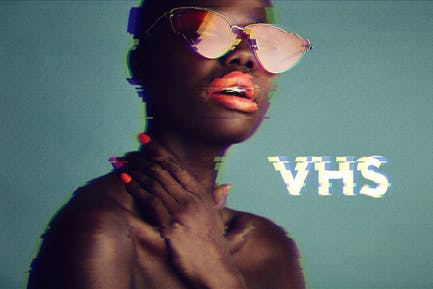VHS Glitch Photoshop Effect