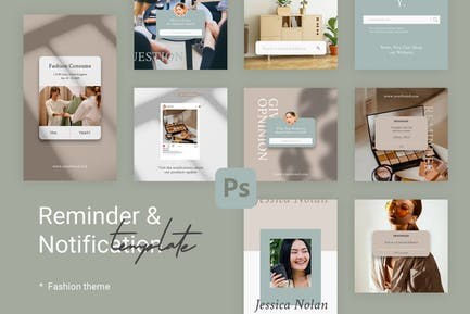 Notification Instagram Templates for Fashion