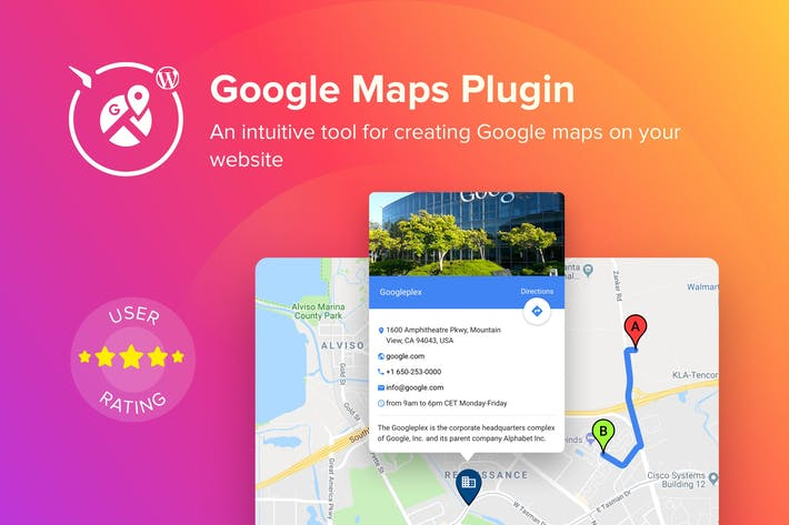 Thumbnail for WordPress Google Maps Plugiciels