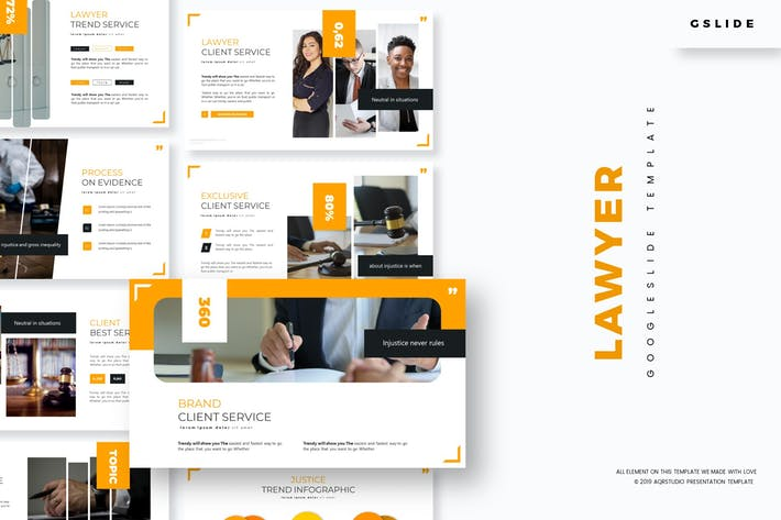 Thumbnail for Lawyer - Google Slides Template
