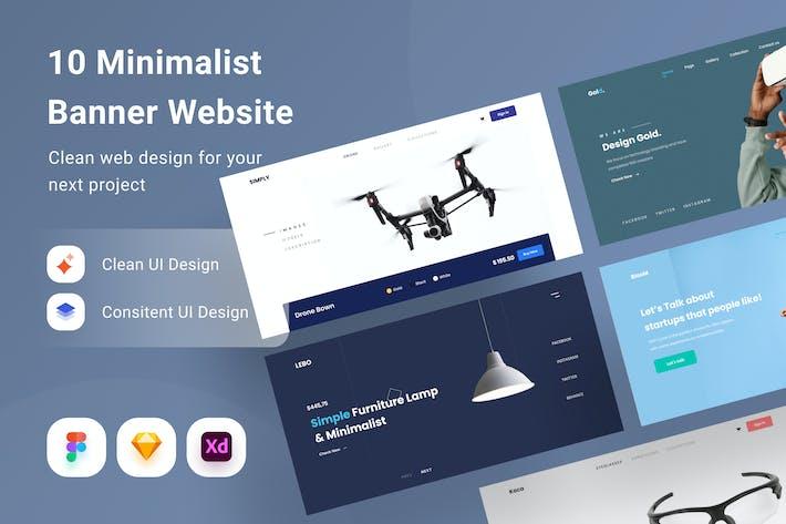 Minimalistische Banner-Webseite