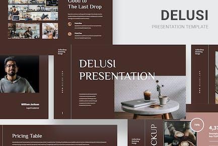 Delusi - Кофейня Google Слайды