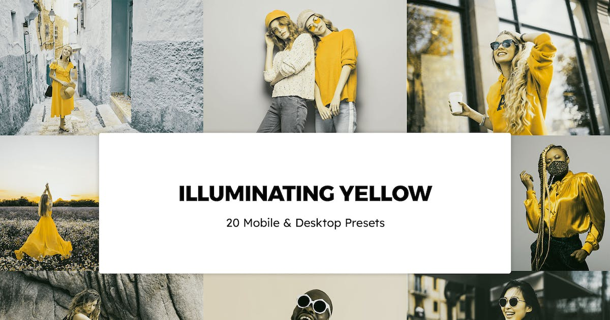 Download 20 Illuminating Yellow Lightroom Presets & LUTs by sparklestock