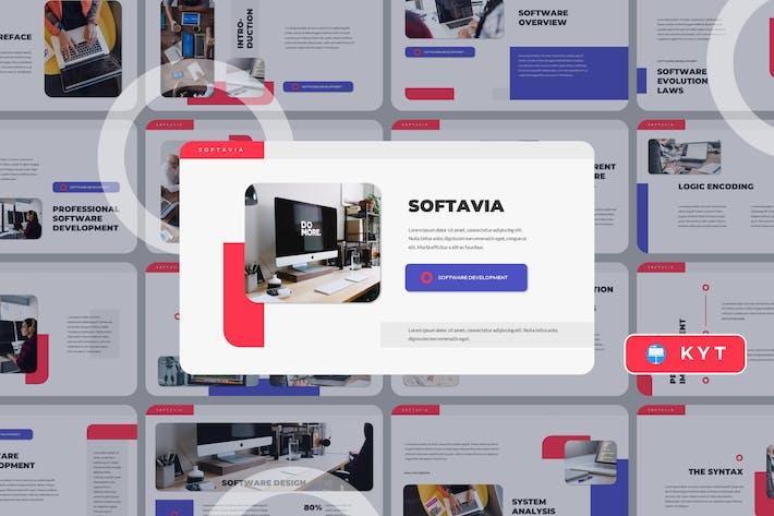 Thumbnail for SOFTAVIA - Software Keynote Template
