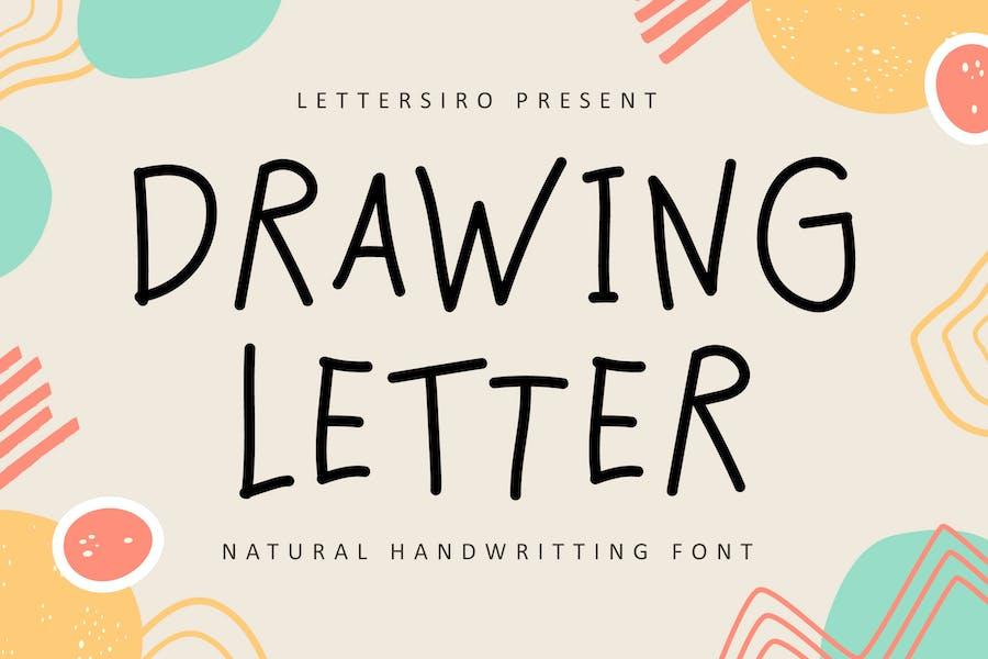 Lettre de dessin