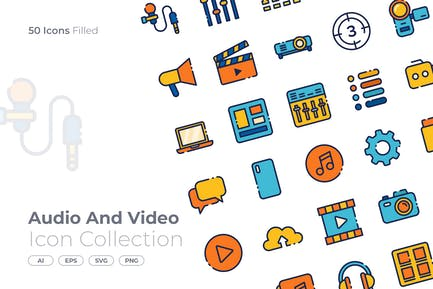 Audio and Video Filled Icon