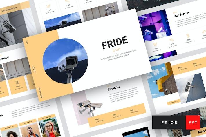 Thumbnail for Fride - CCTV PowerPoint Template