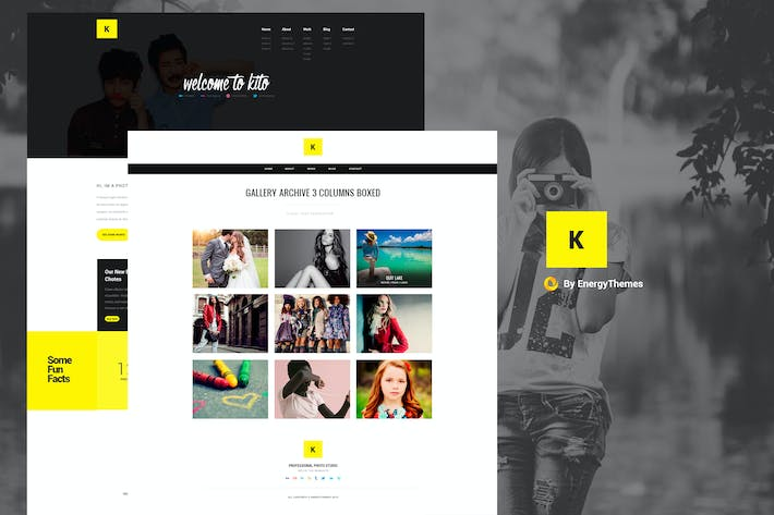 Thumbnail for Kito - Photography PSD Template