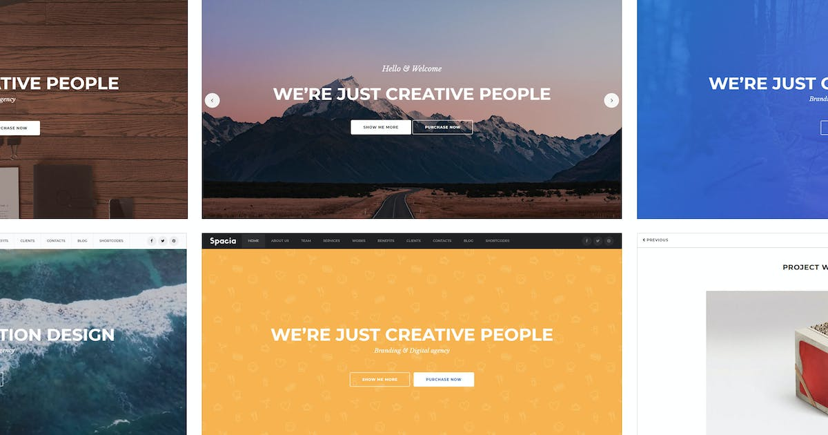 Download Spacia - One-page parallax template by Bestlooker