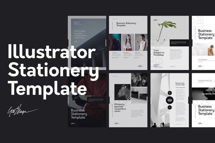 Thumbnail for Nano Illustrator Stationery Template