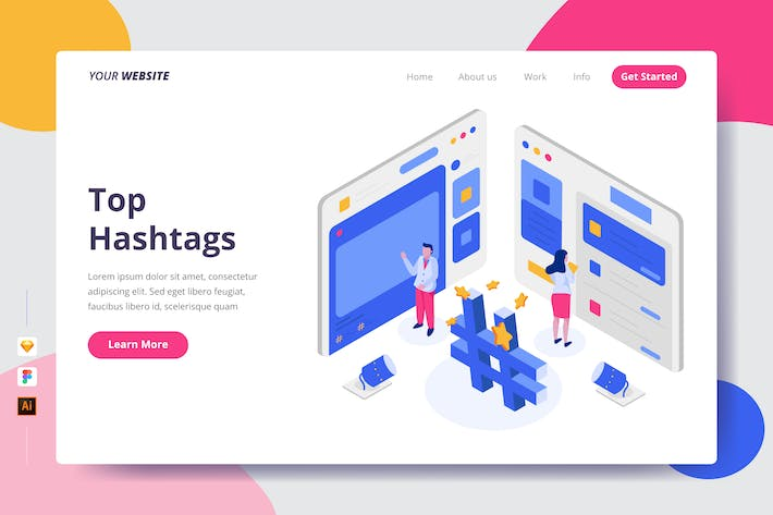 Thumbnail for Top Hashtags - Landing Page