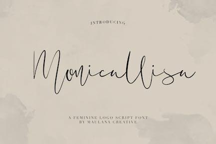 Monicallisa Feminine Logo Script Font