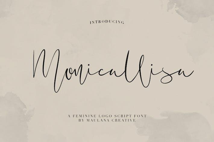 Fuente del guión del Logo femenino de Monicallisa