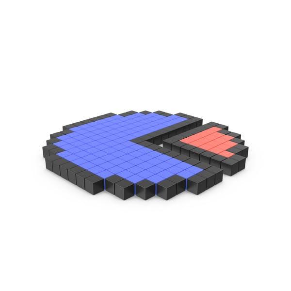 Pixelated Circle Chart Icon
