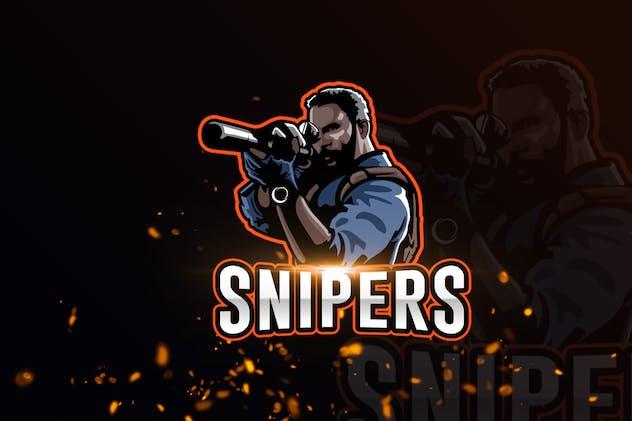 Sniper Team Mascot & eSports Gaming Logo