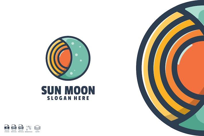 Thumbnail for sun moon logo template