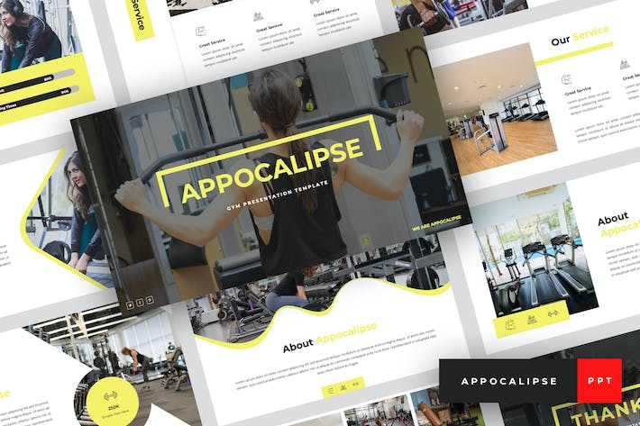 Thumbnail for Appocalipse - Gym PowerPoint Template
