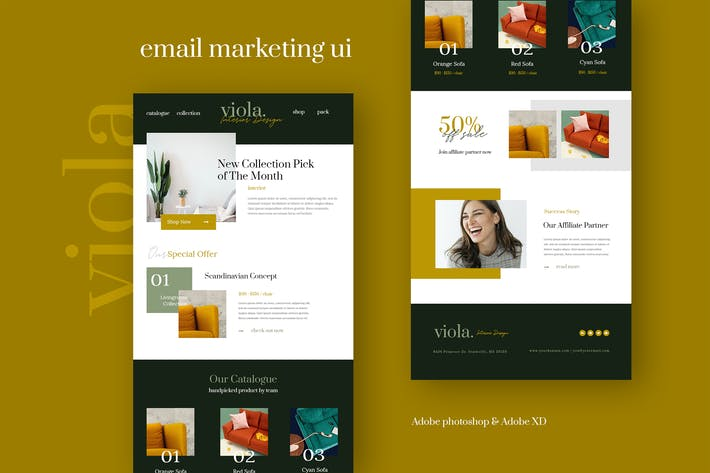 Thumbnail for Viola - Fashion Email Newsletter UI Template