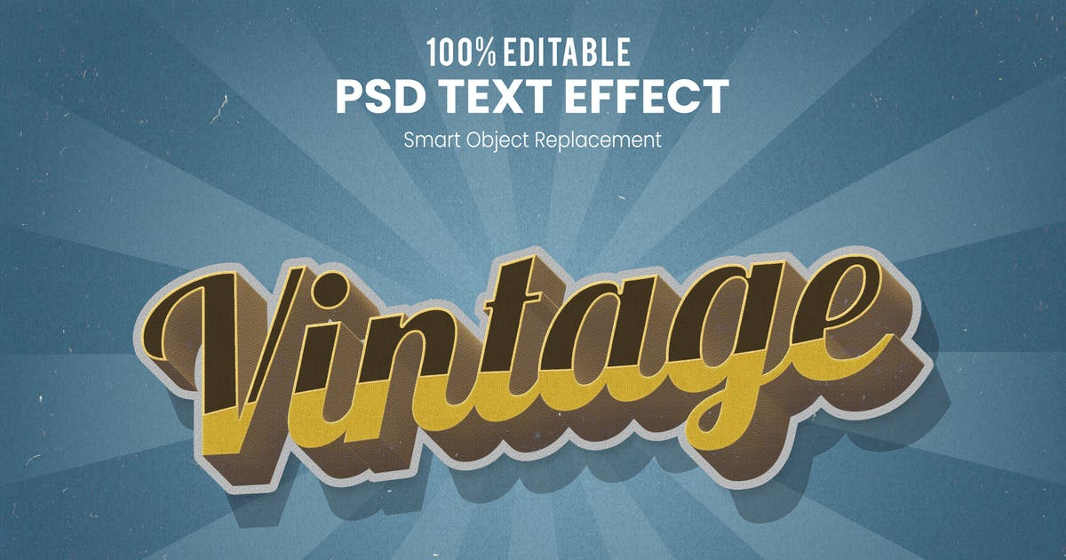 Download Vintage Retro 3D Text Effect by nathatype