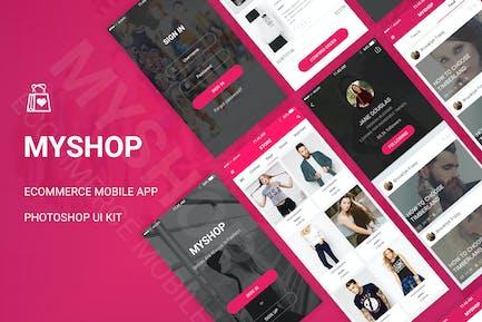 MyShop - Ecommerce Mobile App UI Kit