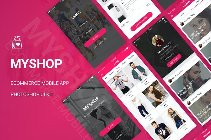 Cover Image For MyShop - Ecommerce Mobile App UI Kit