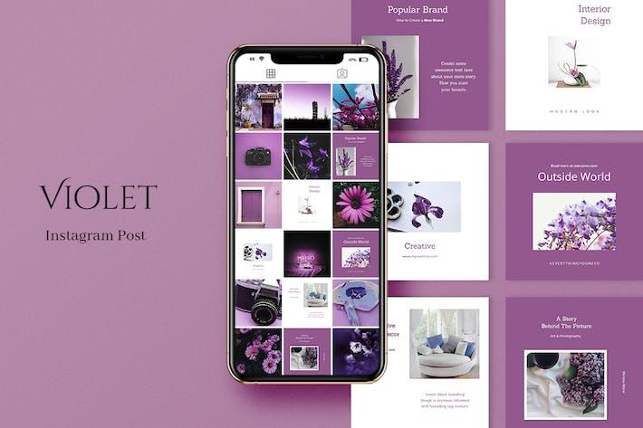 Violet Instagram Beitrag