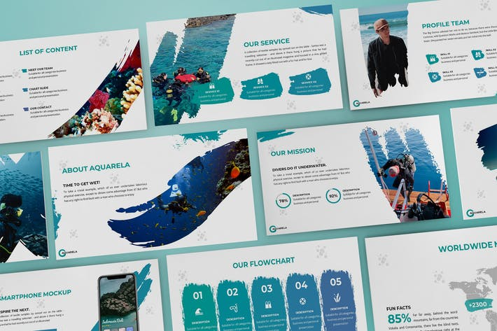 Thumbnail for Aquarela - Abstract Powerpoint Template