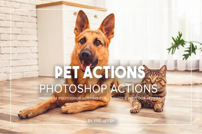 Действия Photoshop домашних