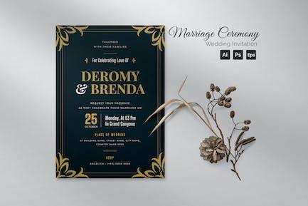 Marriage Ceremony Wedding Invitation