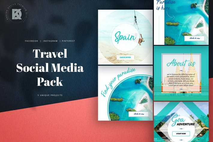 Thumbnail for Travel Social Media Pack 2