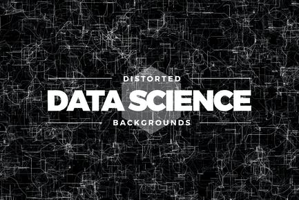 Distorted Data Science Backgrounds