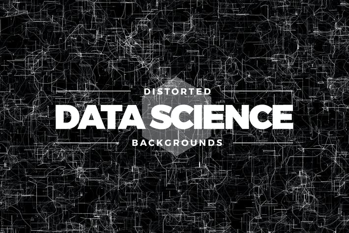 Cover Image For Distorted Data Science Backgrounds