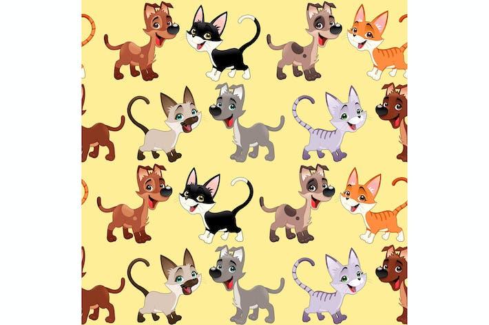 Thumbnail for Кошки и собаки фон