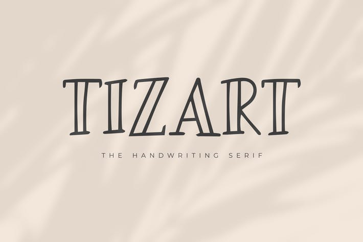 Thumbnail for Tizart - The Handwriting Serif Font