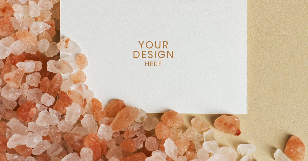 Download Blank white business card on orange gravel by Rawpixel