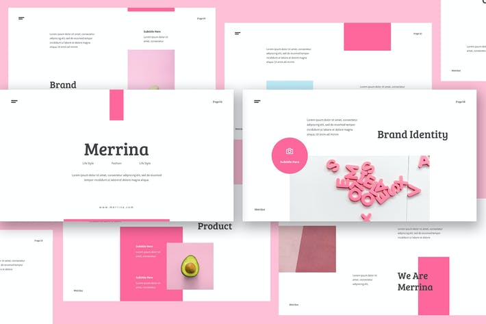 Thumbnail for Merrina - Brand Guideline Keynote Template