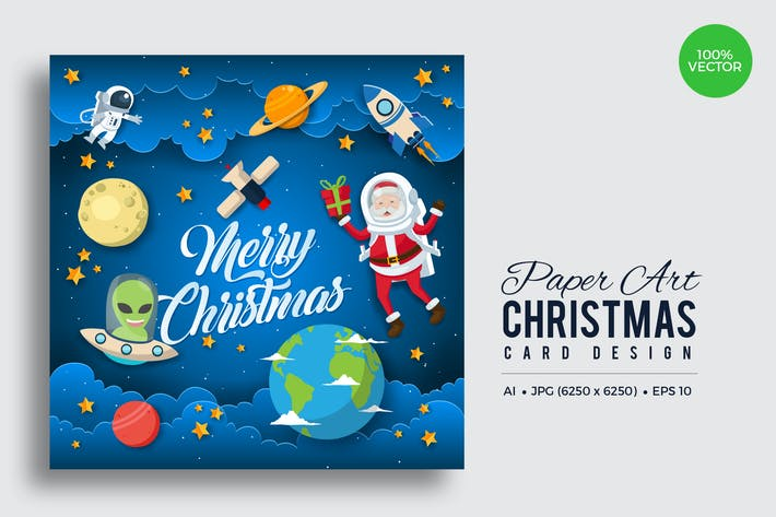 Thumbnail for Merry Christmas Square Vector Card Vol.13