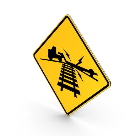 Low Ground Clearance Railroad Crossing Road Sign