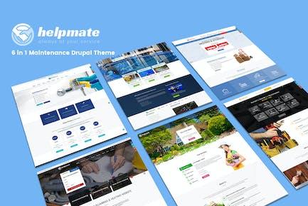 Helpmate - 6 in 1 Maintenance WordPress Theme