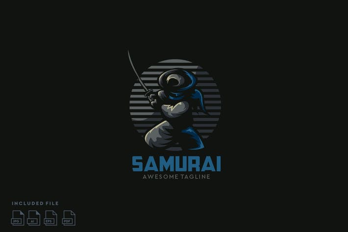 Thumbnail for Samurai Logo Design Ready To Use