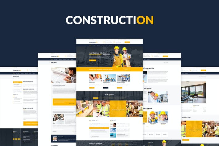 Thumbnail for Construction – PSD Template