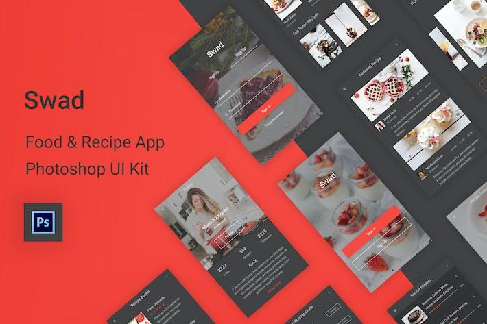 Thumbnail for Swad - Food & Recipe Photoshop UI Kit