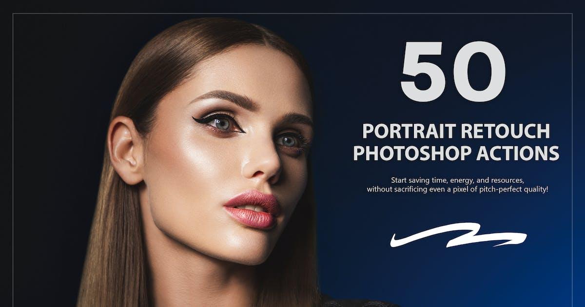 Download 50 Portrait Retouch Photoshop Actions by Eldamar_Studio