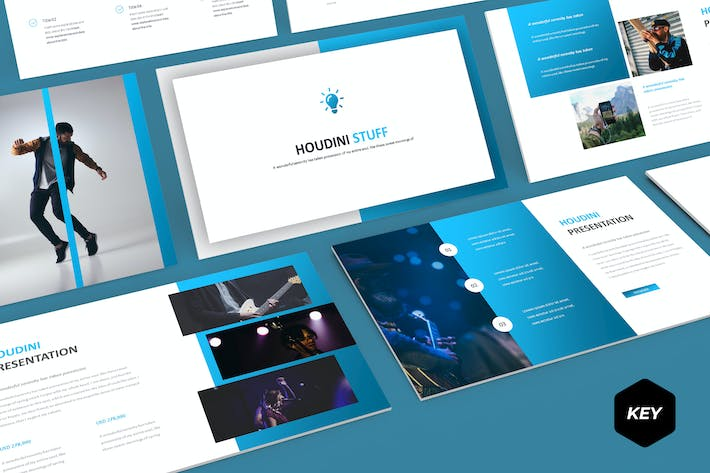 Cover Image For Houdini - Keynote Template